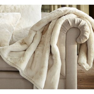 Faux Fur Throw Blanket Powder Babes